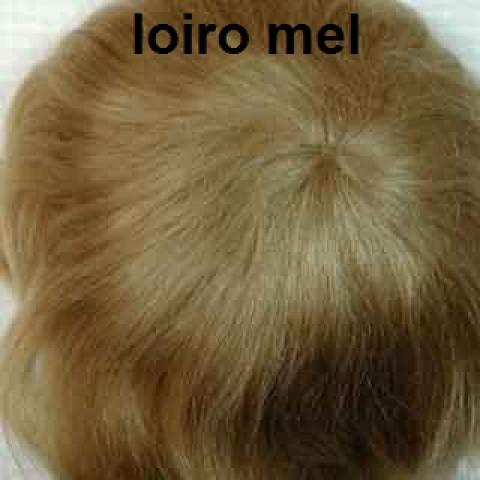 Peruca Lisa de mohair-loiro mel  12-13