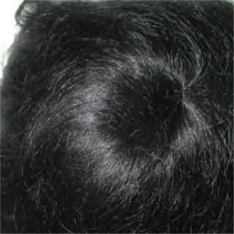 Peruca Lisa de mohair -preto 12-13