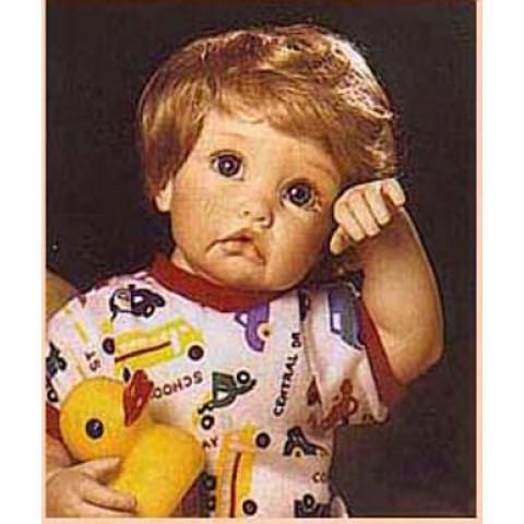 Peruca sintética Bebê para toddler 17-18 castanho claro