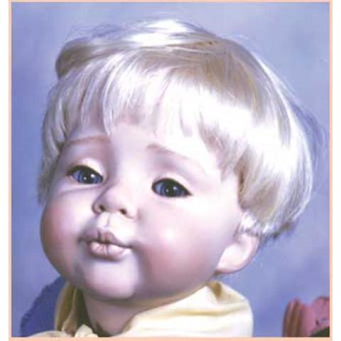 Peruca sintética Dutch Boy para toddler -17-18-castanho escuro