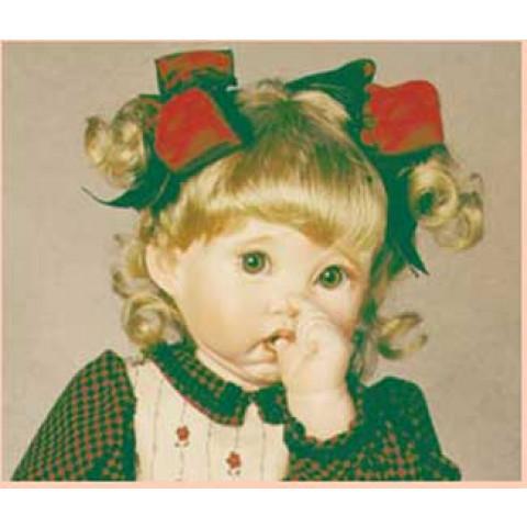 Peruca sintética Jeniffer para toddler 17-18-castanho claro