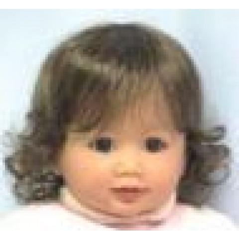 Peruca sintética Jessicaa para toddler-castanho claro