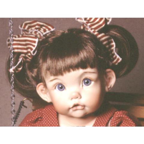 """Peruca sintética Mei para toddler ( várias cores) 17-18"""""""
