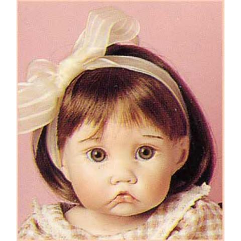 Peruca sintética  para toddler 17-18-castanho claro