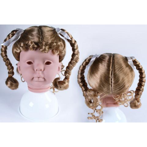 Peruca sintética  para toddler  17-18-loiro