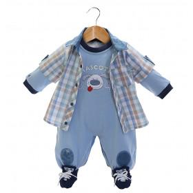 Camisa e macacão Beth Bebê - Heitor - azul-P