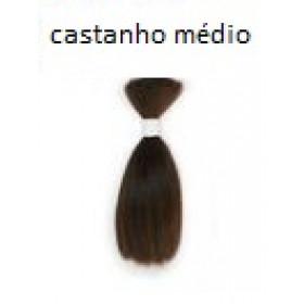 Mohair liso RN -castanho médio