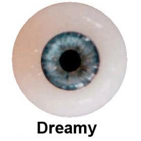 Olhos em Silicone Eyeco Platinum Cor Dreamy Blue -11mm