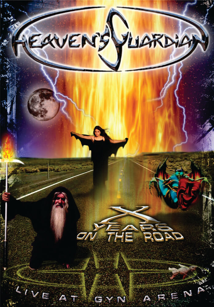 HEAVENS GUARDIAN -X Years On The Road, Live at Gyn Arena (CD+DVD), Brazilian Power Metal, FRETE GRÁTIS