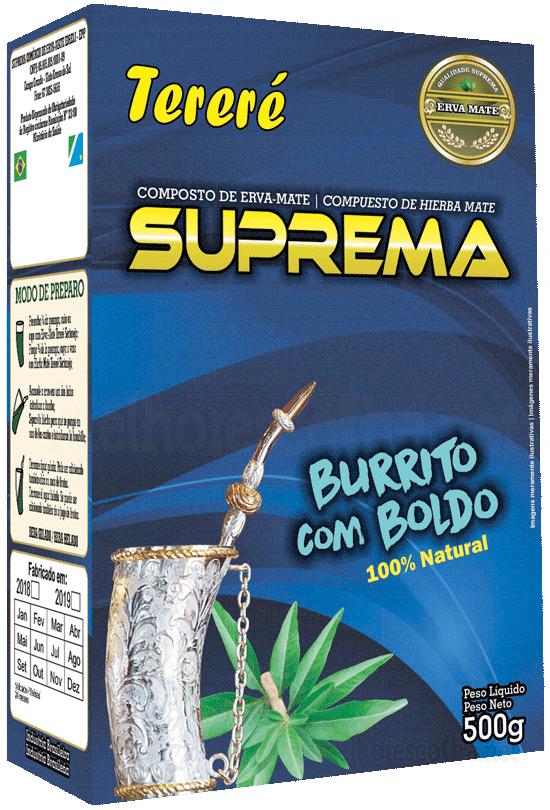 Erva Mate para Tereré Suprema - Burrito com Boldo