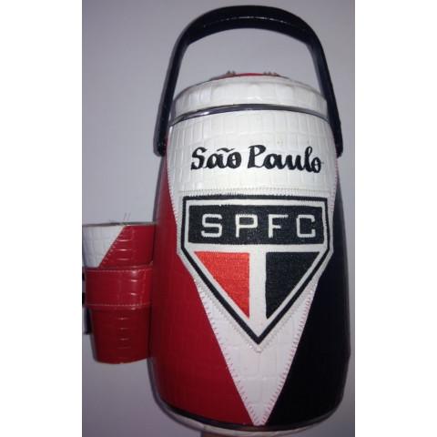 Garrafa Térmica Revestida em Couro São Paulo