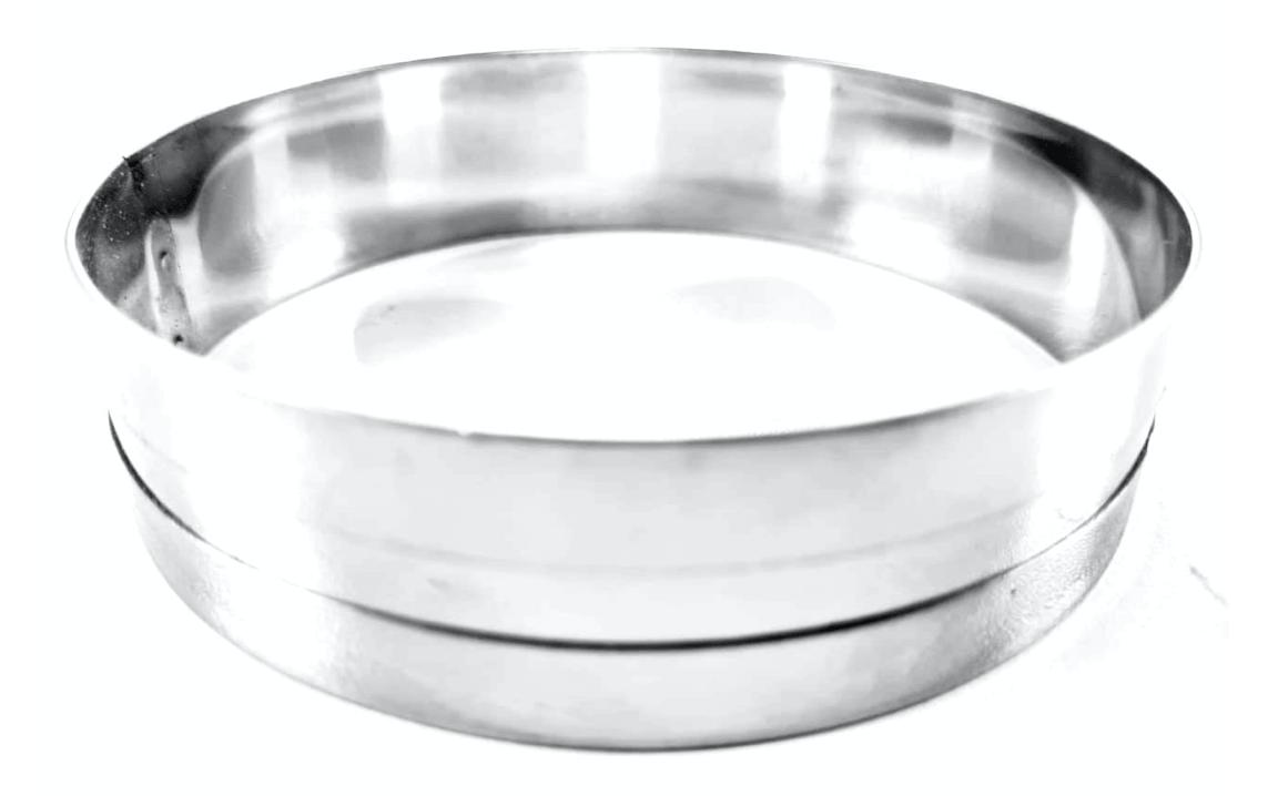 Aro Modelador para Pão de Hambúrguer 11,5x2,5 cm (Aço inox)