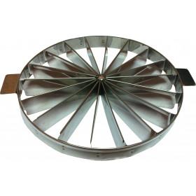 Marcador de pudim/torta 14 pedaços 28 cm (Inox)