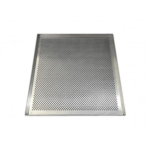 Kit com 10 assadeiras para pão de queijo PERFURADA 35x35x2 cm (Aluminio 1,0 mm) Exclusivo para forno Ferri