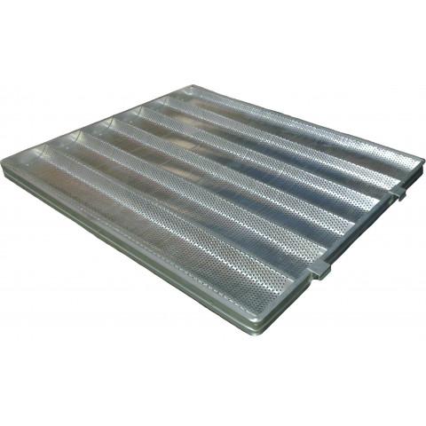 Assadeira para pão frances 5 ondas 58x70 cm (Aluminio) super reforçada e perfurada