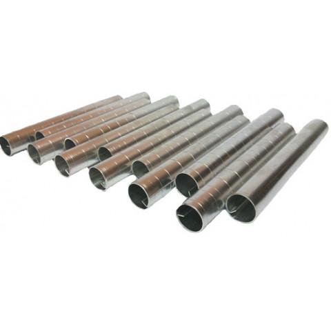 Canola cilindrica fina (Aluminio)12 peças