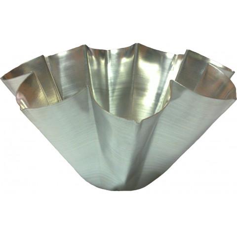 Forma de bolo pandoro pequena 19x10x7,5 cm boca x alt x fund (Alumínio)
