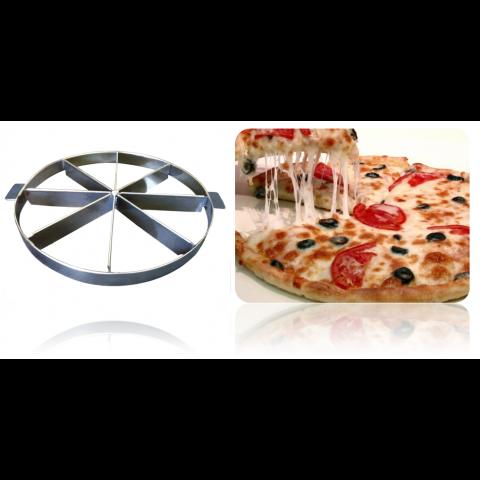 Marcador de pizza com 30 cm de diâmetro (AÇO INOX) com alça - ESCOLHA A QUANTIDADE DE PEDAÇOS