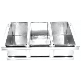 Conjunto Pão de Forma Forma Miga 1000 gr (Alumínio)