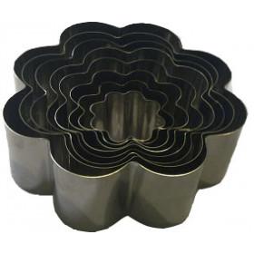 Jogo de cortador margarida (Inox) 7 peças