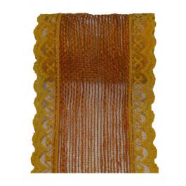 Fita de Juta com Renda - Laranja [Largura 7,5 cm]