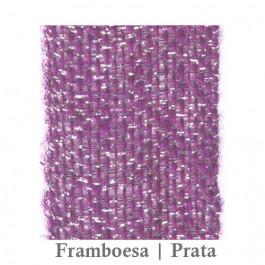 Fita Juta 1210 - Framboesa   Prata