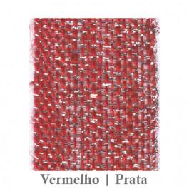 Fita Juta 1210 - Vermelho | Prata