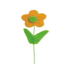 Pick Flor Felt - Amarela (16 unidades)