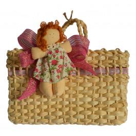 Sacolinha de Palha com Boneca Juju