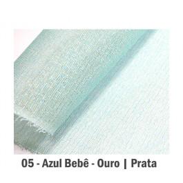Tela Fechada de Algodão - Azul Bebê | Misto (65x65cm)