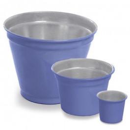 Vaso de Alumínio - Crisântemo Azul