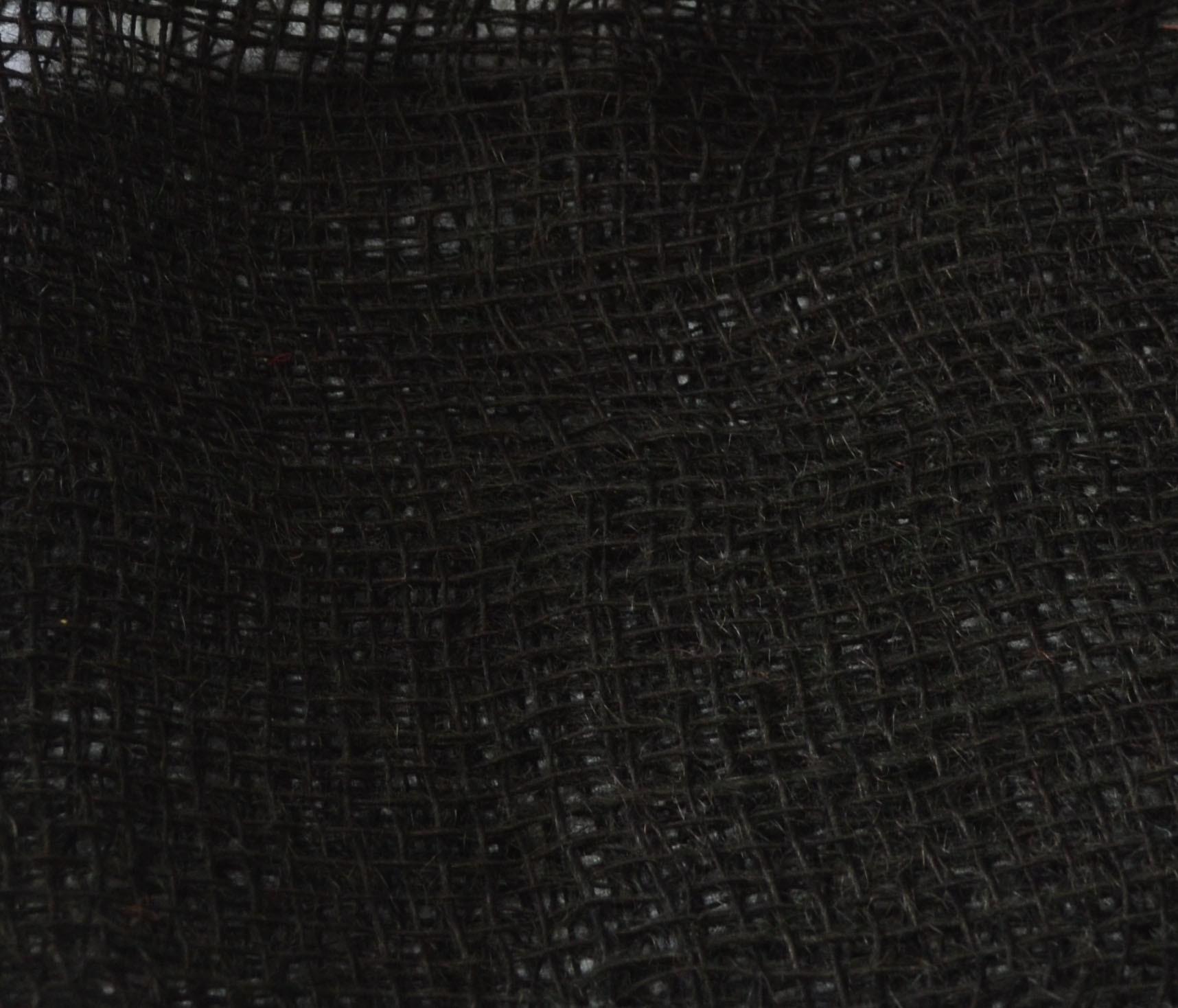 Tela de Juta 145 - Trama Aberta - Preto (cor 320)