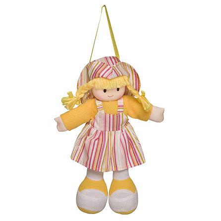 Boneca Gigi Vestido Listrado Amarelo