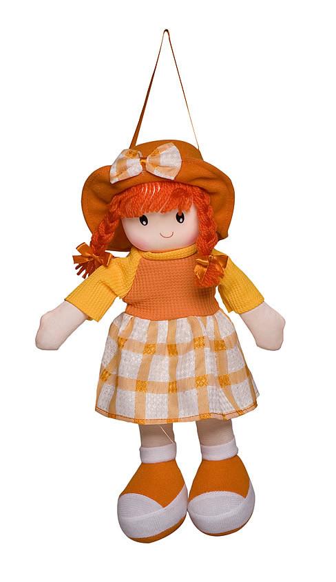 Boneca Paty Vestido Xadrez Laranja