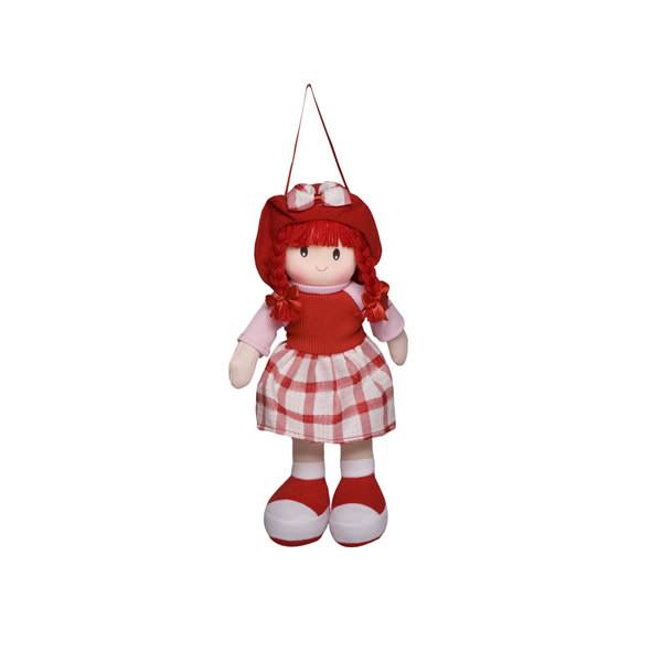 Boneca Paty Vestido Xadrez Vermelho