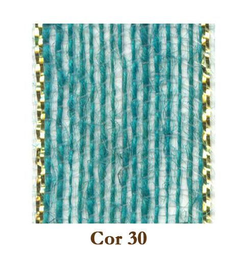 Fita de Juta - Azul Ocean / Ouro (3210-30)