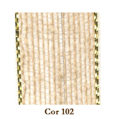 Fita de Juta - Natural/Ouro (3238-102)
