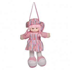 Boneca Gigi Vestido Listrado Rosa