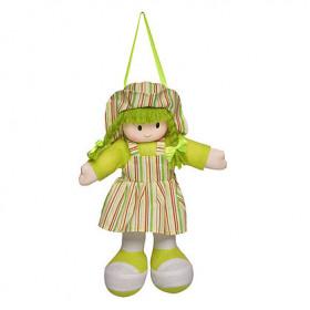 Boneca Gigi Vestido Listrado Verde