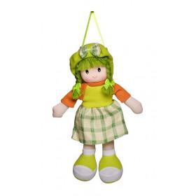 Boneca Paty Vestido Xadrez Verde