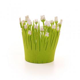 Cachepot Feltro Tulipa D11 - Branco