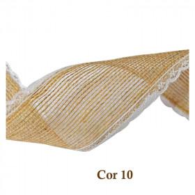 Fita de Juta com Renda - Natural [Largura 5,0 cm]
