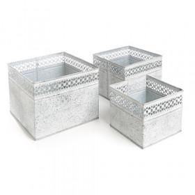 Kit Vaso Quadrado Gelo - Borda Rendada