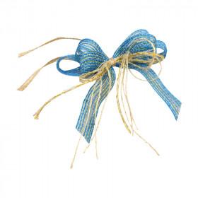 Laço Triplo P - Azul Bebê | Ouro