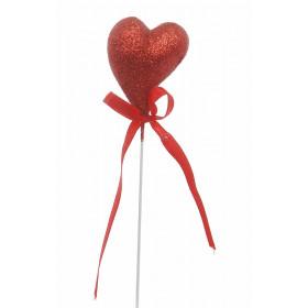 Pick Coração Crescente com Glitter