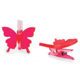 Pregador  Borboleta Acrílico Flower - Pink