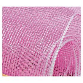 Tela Decorativa - Rosa com fio Prata