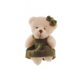 Ursinha de vestido verde (8 cm)