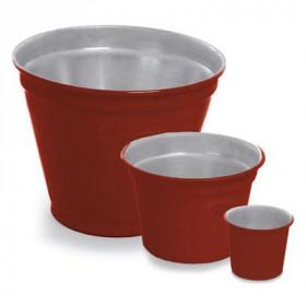 Vaso de Alumínio - Crisântemo Vermelho