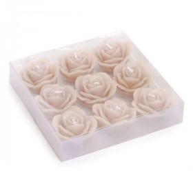Vela Decorativa - Rosas Areia